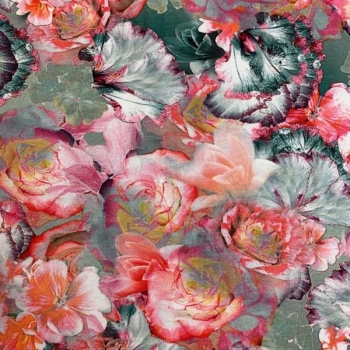 Cotton jersey digital print dream flowers multicolored