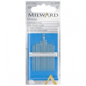 Sharps needles no.3-9 20 in pack