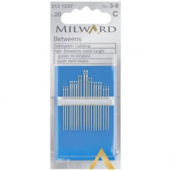 Betweens/quilting needles no.3-9 20 in pack