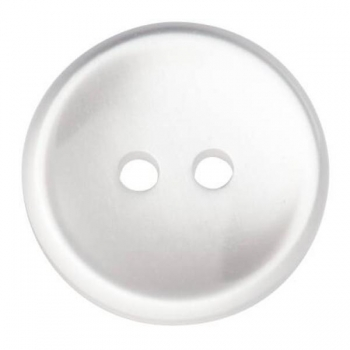 Buttons 14mm 24 in pack white