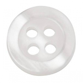 Buttons 9/11mm 30 in pack white