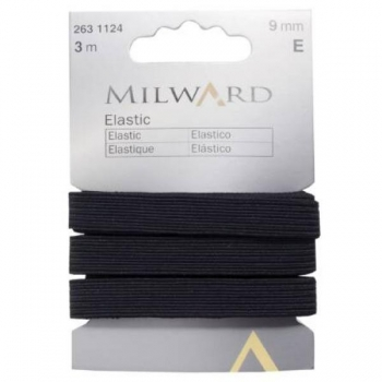 Elastic 9mm 3m in pack black