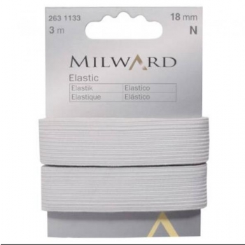 Elastic 18mm 3m in pack white