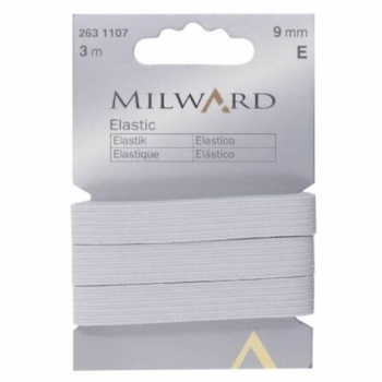 Elastic 9mm 3 in pack white