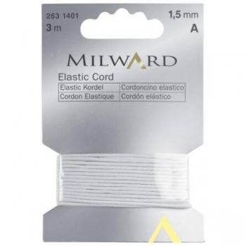 Elastic cord 1.5mm 3m in pack white