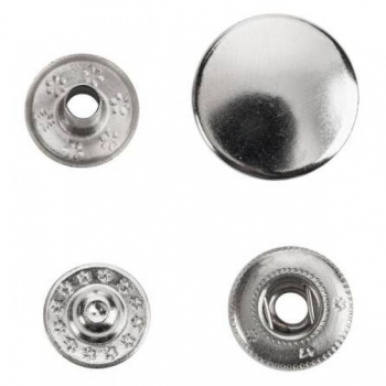 Press fasteners Anorak 15mm 10 in pack silver