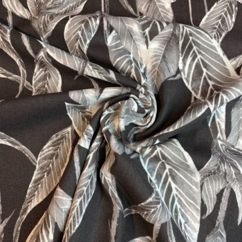 Linen viscose plants brown