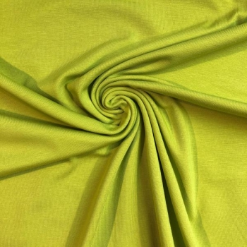 Cotton jersey greenish yellow
