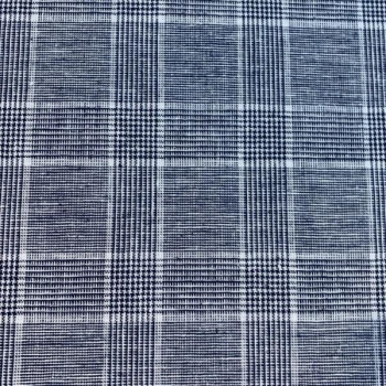 Linen cotton squared blue