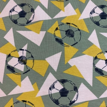 Cotton jersey fotballs and triangles