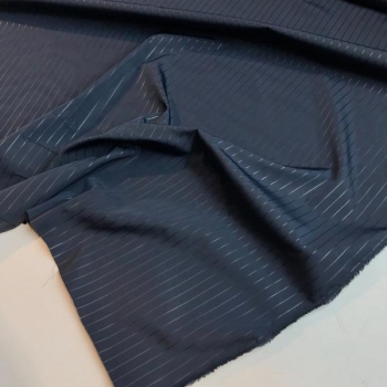 Water repellent fabric navy line