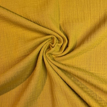 Cotton muslin ochre