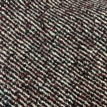 wool fabric white, purple, black