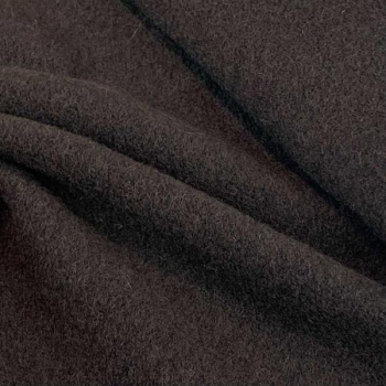 Dark brown wool fabric