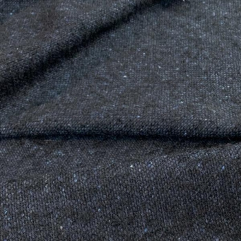 Wool fabric black and blue