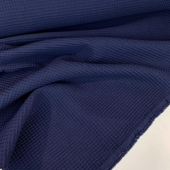 Waffel fabric navy