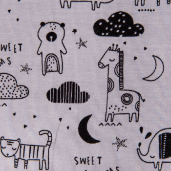 Cotton jersey printed sweet dreams grey