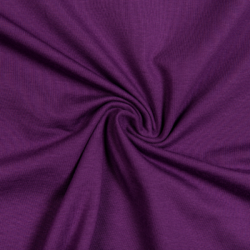 Cotton jersey dark purple
