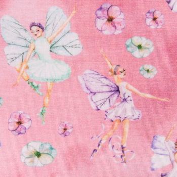 Cotton jersey printed fantastic fairies multicolored