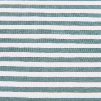 Cotton jersey printed tiny lines green