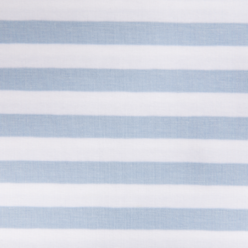 Cotton jersey printed wide lines blue