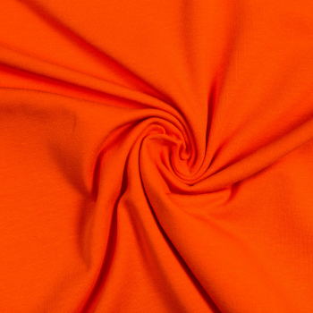 Cotton jersey orange