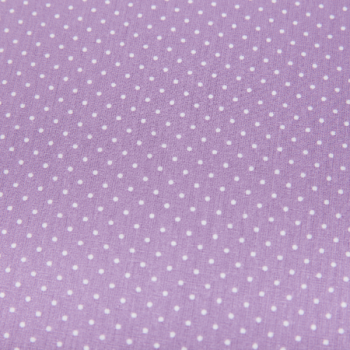 Cotton poplin printed small dots purple