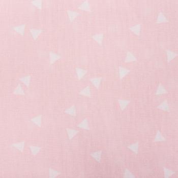 Cotton poplin printed triangle rain light pink