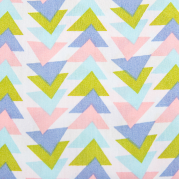 Cotton poplin printed colourful mountains
