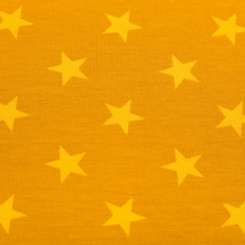 Cotton jogging printed big stars mustard