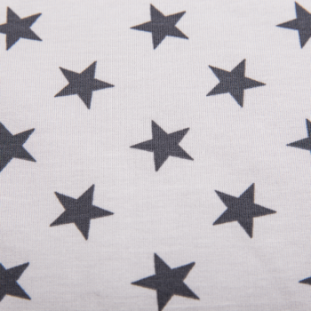 Cotton jogging printed big stars grey