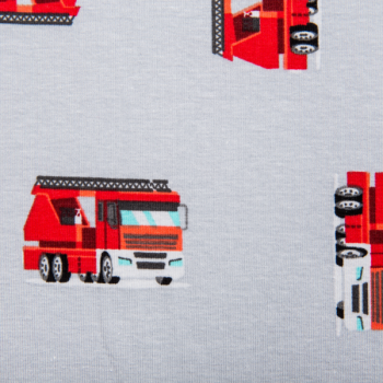 Cotton jersey printed fire truck multicolored