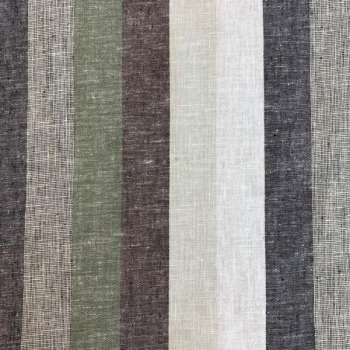 Linen viscose vertical stripes multicolored