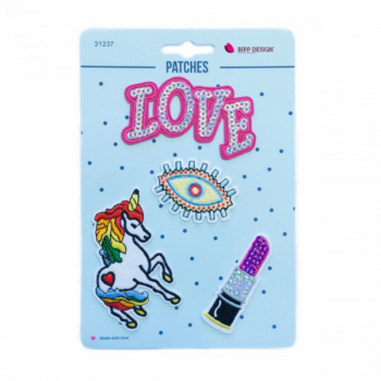 Iron on patches love eye
