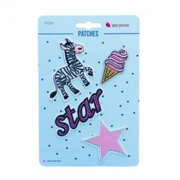Iron on patches zebra