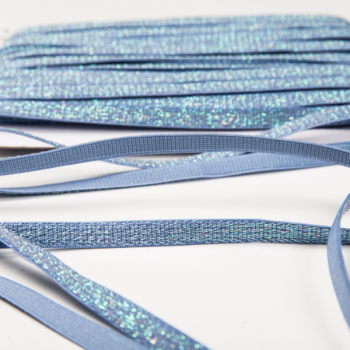 Shiny elastic blue