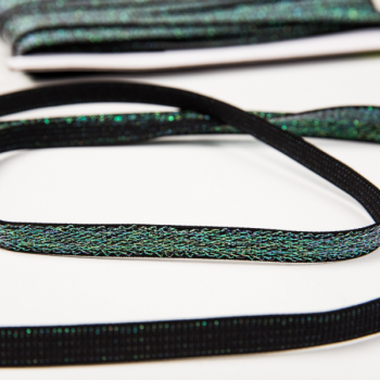 Shiny elastic dark green