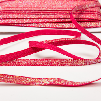Shiny elastic red