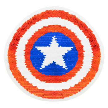 Reversible sequin patch sew on star dartboard multicolored