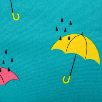 Softshell printed umbrella mint