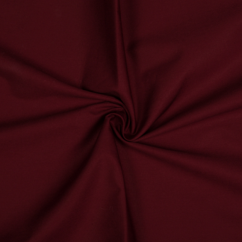 Cotton poplin bordeaux
