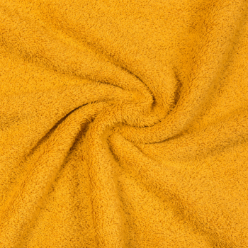 Terry cloth mustard