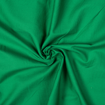 Cotton poplin grass green