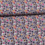Cotton jersey printed multicolored leaves light blue