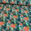 Cotton jersey printed abstract flowers multicolored