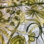 Linen viscose water flowers multicolored