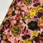 Cotton jersey digital printed artistic flowers multicolored