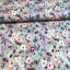 Viscose jersey digital printed pink water flowers on blue packground