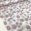 Cotton polyester mix ebroided  heart flowers pink