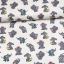 Cotton jersey printed little baby elephants multicolored